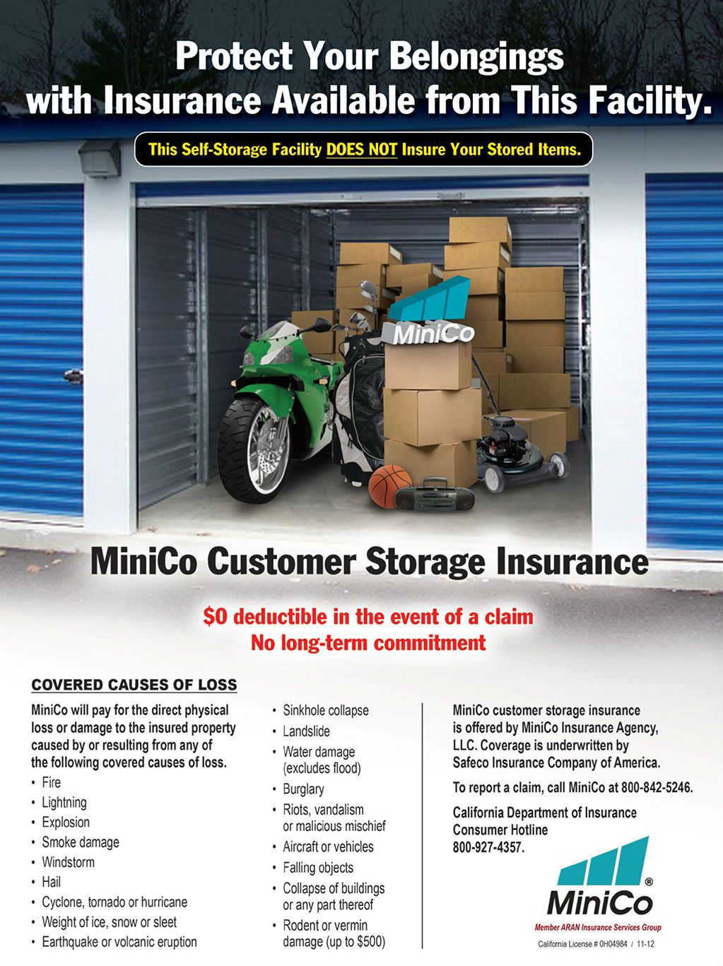 Tenant Insurance | Caterpillar Road Storage